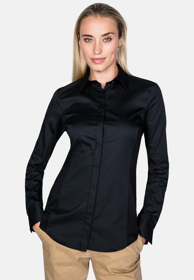 MEGGY-F - Button-down blouse - black