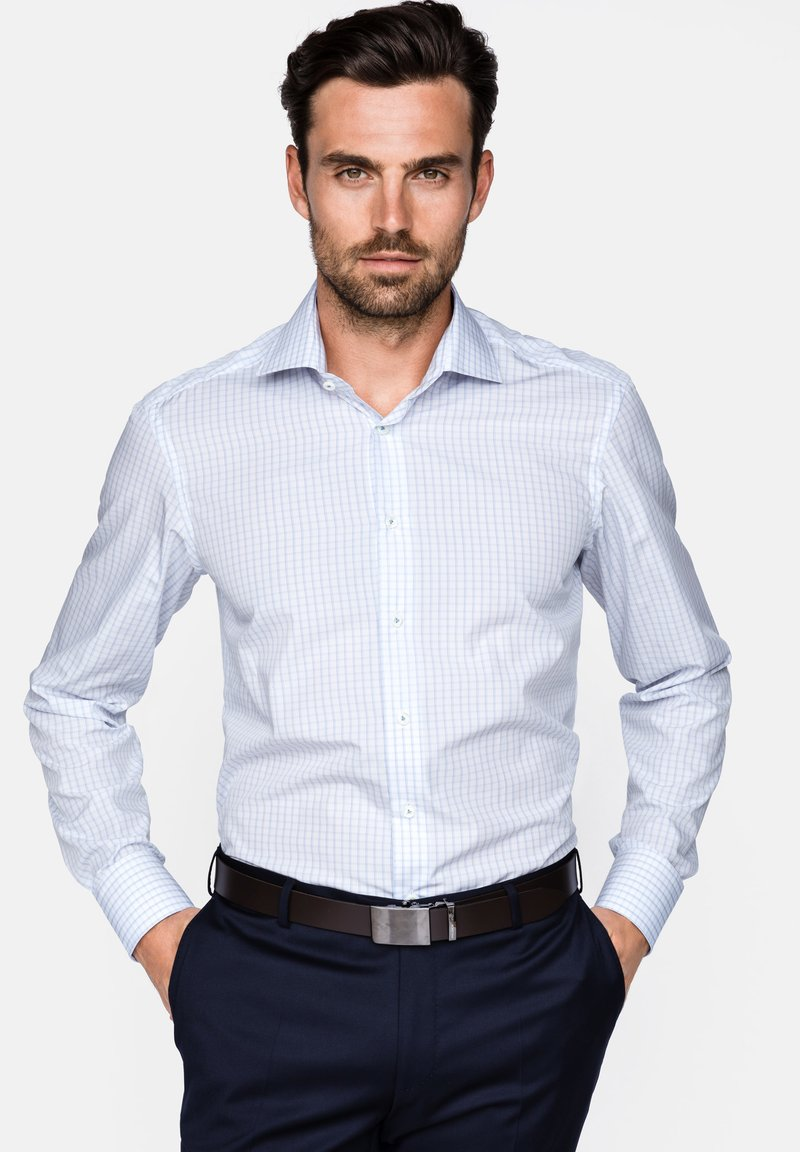 van Laack - RIVARA TAILOR FIT - Hemd - White/blue