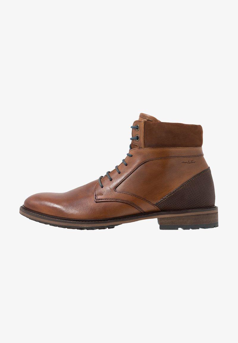 Van Lier - HENRY - Lace-up ankle boots - cognac