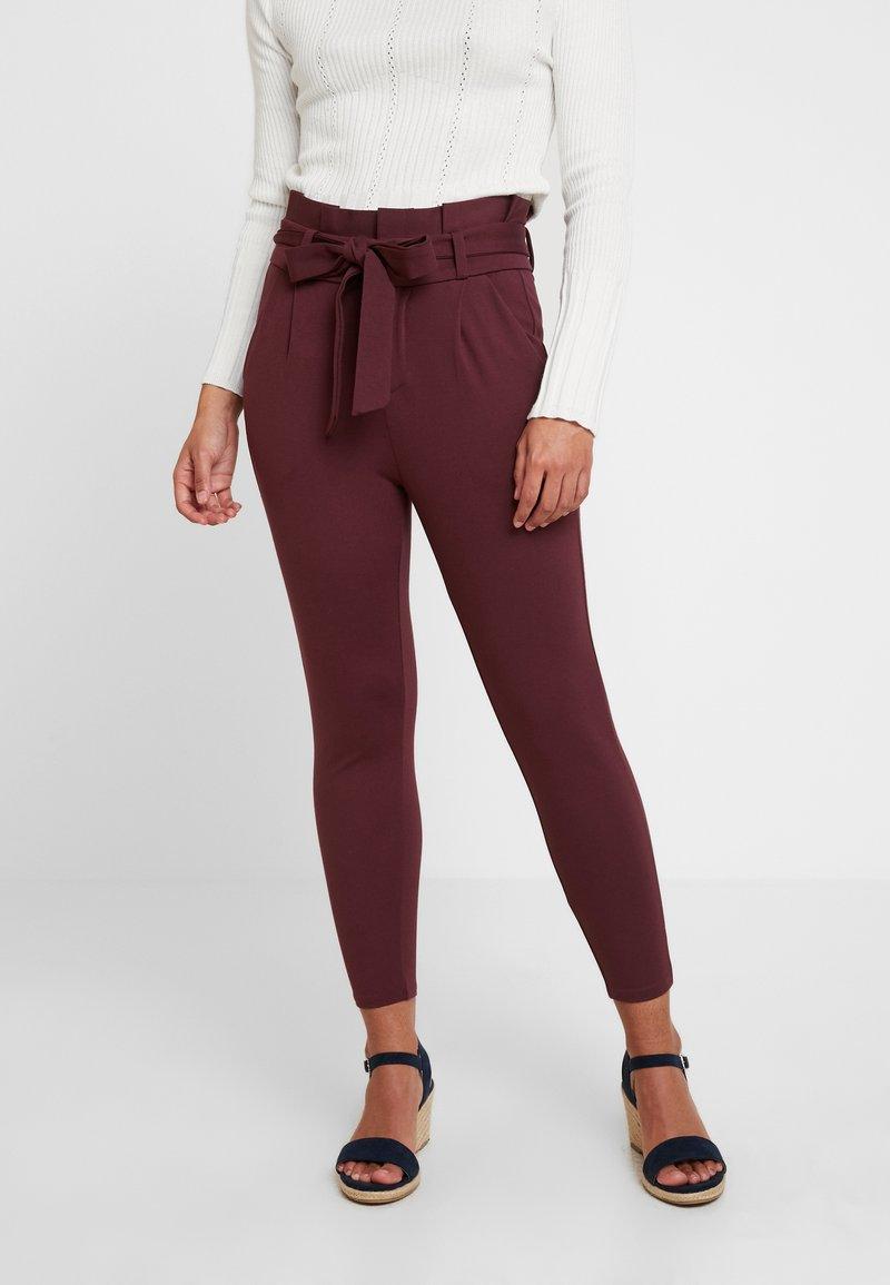 Vero Moda Petite - VMEVA LOOSE PAPERBAG PANT - Trousers - port royale