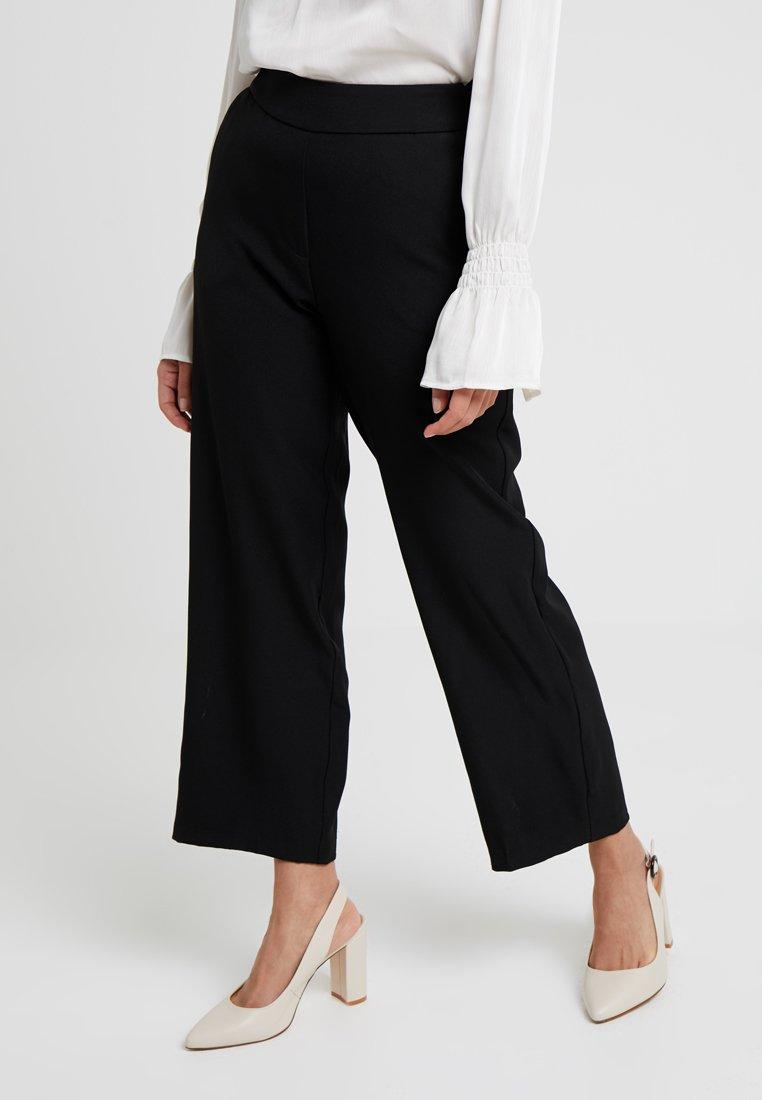 Vero Moda Petite - VMGEMMA WIDE PANTS - Stoffhose - black