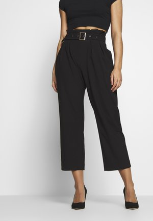 VMVIKIVI BELT PANTS - Bukse - black