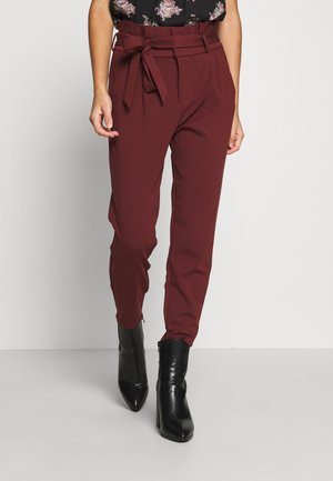 LOOSE PAPERBAG PANT - Bukse - sable