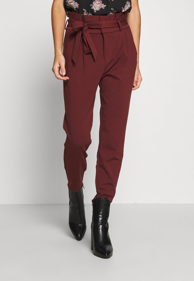 VMEVA LOOSE PAPERBAG PANT - Trousers - sable