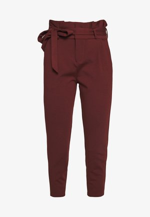 LOOSE PAPERBAG PANT - Trousers - sable