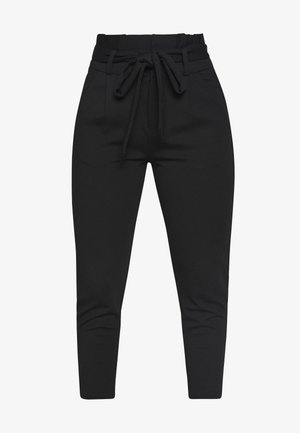 LOOSE PAPERBAG PANT - Broek - black