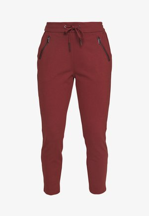VMEVA MR LOOSE STRING ZIP PANT - Tracksuit bottoms - sable