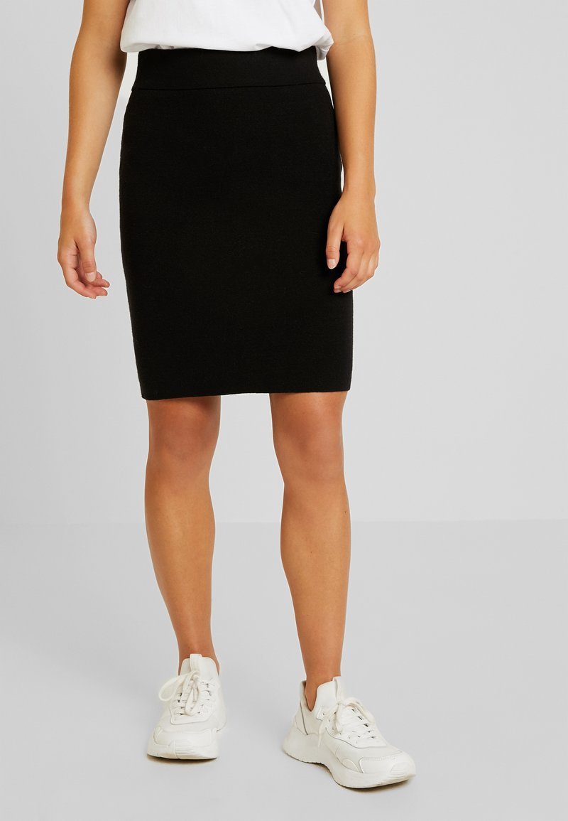 Vero Moda Petite - VMFRESNO PENCIL SKIRT - Bleistiftrock - black