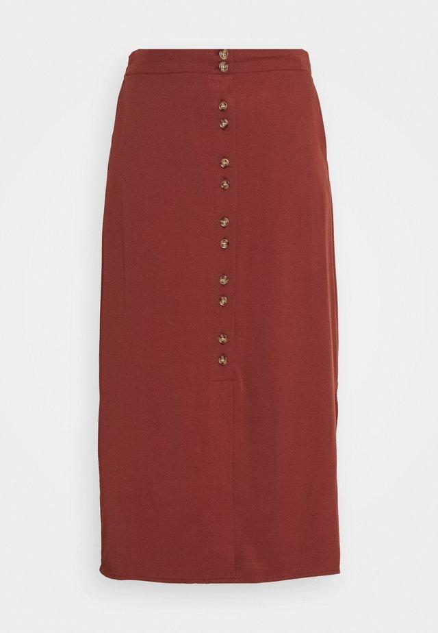 VMHAFIA SKIRT - Spódnica trapezowa - sable