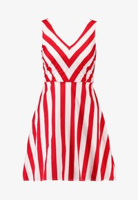 Vero Moda Petite - VMAYA SHORT DRESS - Kjole - snow white/fiery red - 3