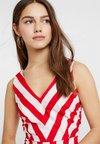 Vero Moda Petite - VMAYA SHORT DRESS - Day dress - snow white/fiery red
