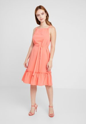 VMCARINA TIE DRESS - Kjole - living coral