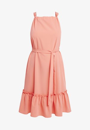 VMCARINA TIE DRESS - Day dress - living coral