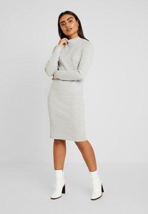 VMFANCY NANCY HIGHNECK DRESS  - Strikket kjole - light grey melange