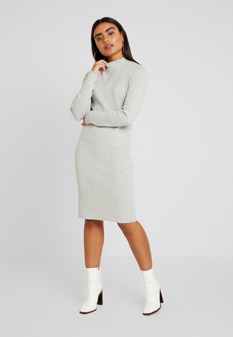 Vero Moda Petite - VMFANCY NANCY HIGHNECK DRESS  - Jumper dress - light grey melange