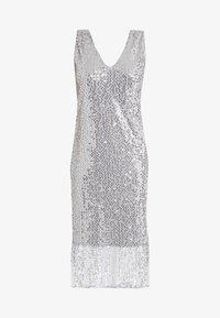 Vero Moda Petite - VMDAISY CALF DRESS - Koktejlové šaty/ šaty na párty - silver sconce - 4
