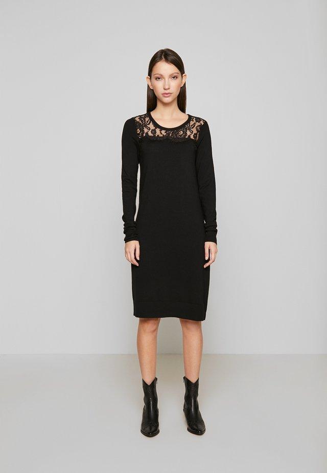 VMLACOLE LACE DRESS - Gebreide jurk - black