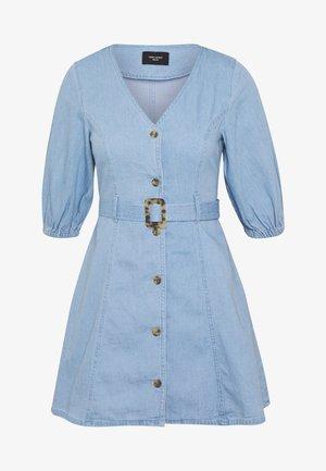 VMCLARISA SHORT DRESS - Robe en jean - light blue denim