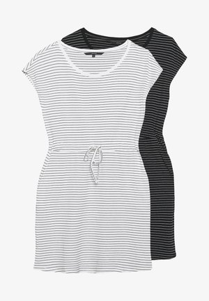 VMAPRIL SHORT DRESS 2PACK - Sukienka z dżerseju - black/black/snow