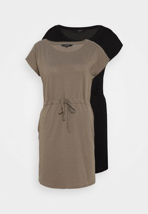 VMAPRIL SHORT DRESS 2PACK - Jerseykjole - black/bungee cord