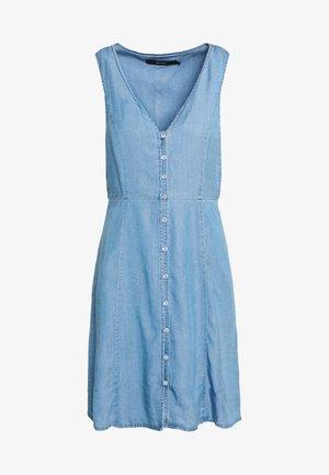 VMLENA BUTTON MIDI DRESS - Robe d'été - light blue denim