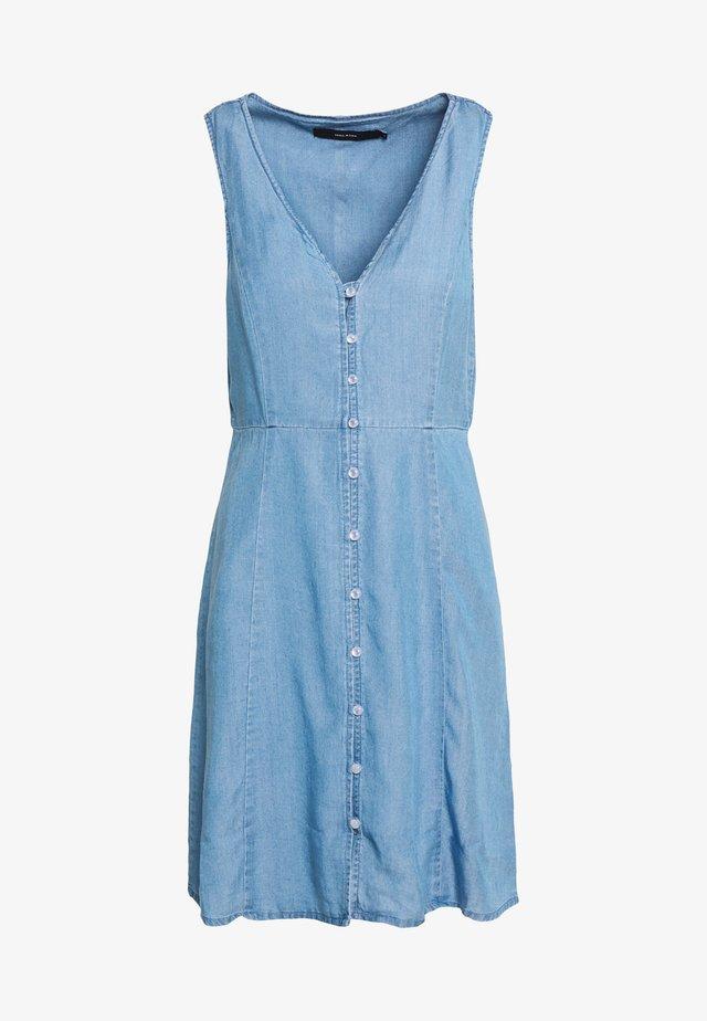 VMLENA BUTTON MIDI DRESS - Denim dress - light blue denim