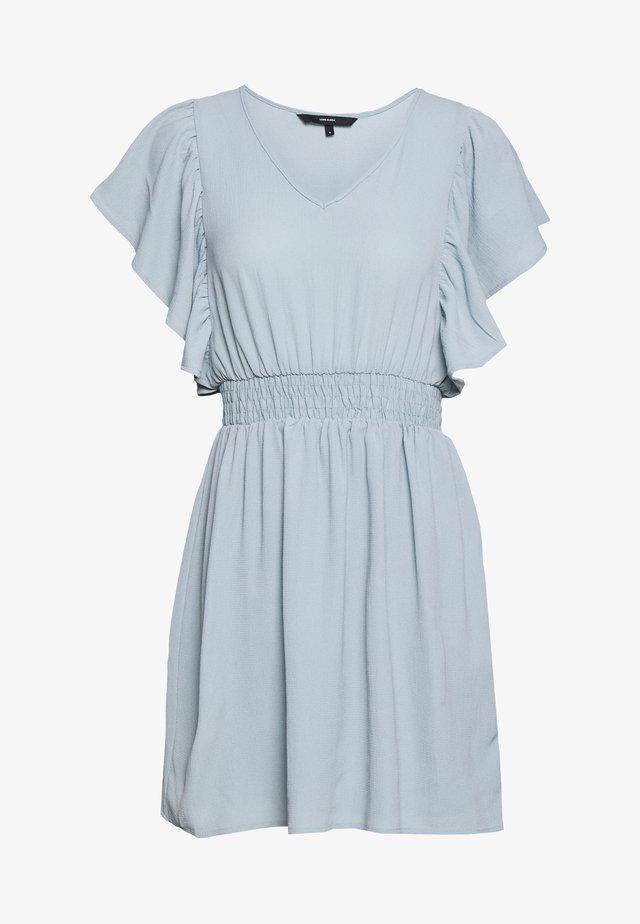 VMSASHA FRILL DRESS - Korte jurk - slate