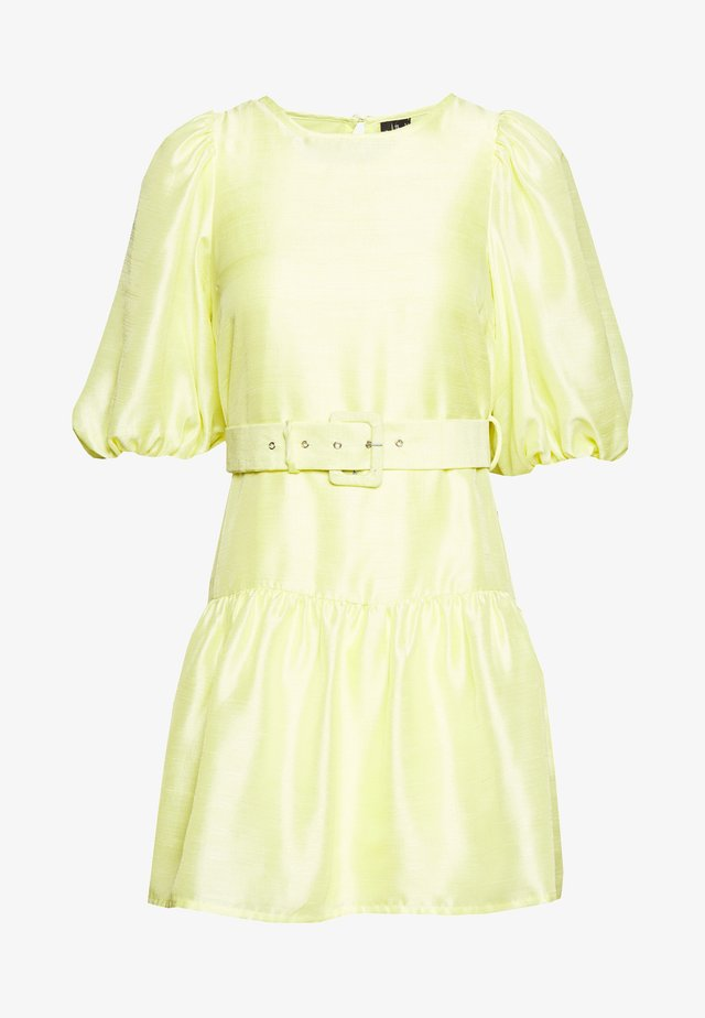 VMLOUI BELT DRESS VIP  - Korte jurk - sunny lime