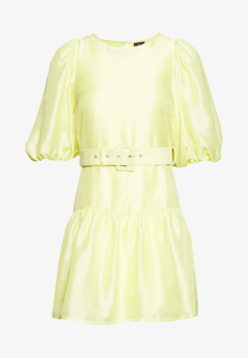 Vero Moda Petite - VMLOUI BELT DRESS VIP  - Vestido informal - sunny lime