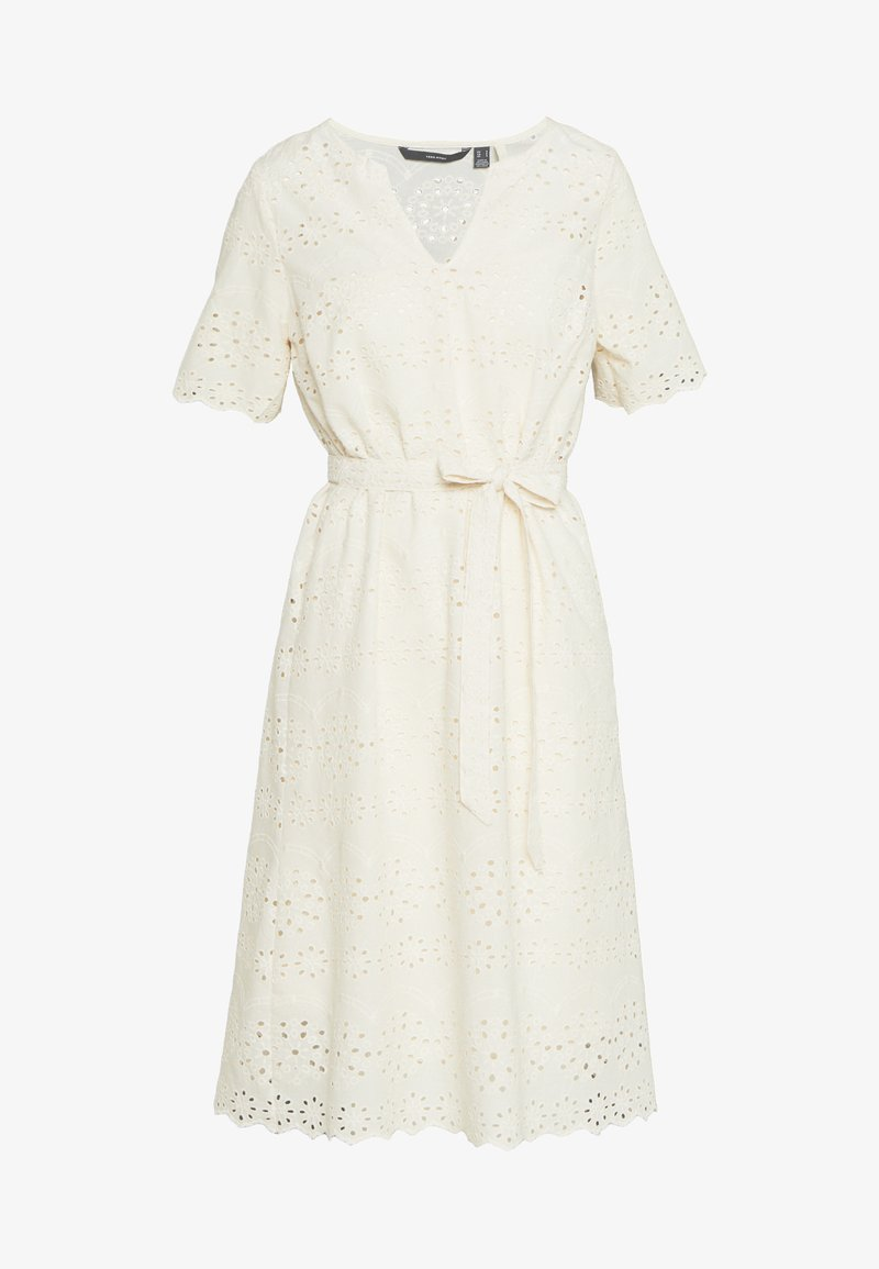 Vero Moda Petite - VMKAROLINE CALF DRESS PETITE - Denní šaty - beige
