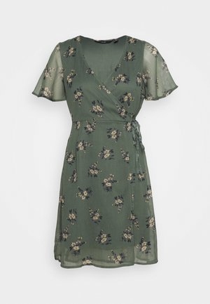 VMKAY WRAP SHORT DRESS - Vestido informal - mint
