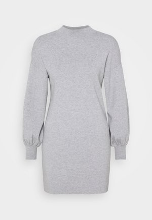 VMNANCY BALLOON DRESS - Strikket kjole - light grey melange