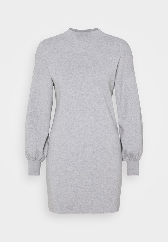 VMNANCY BALLOON DRESS - Jumper dress - light grey melange