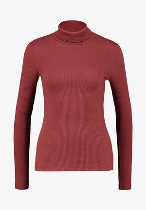 VMIRINA ROLL NECK - Langærmede T-shirts - madder brown
