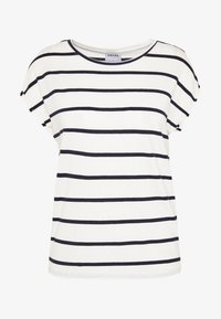 Vero Moda Petite - VMAVA PLAIN NEMO STRIPE - T-shirt imprimé - snow white/night sky - 3