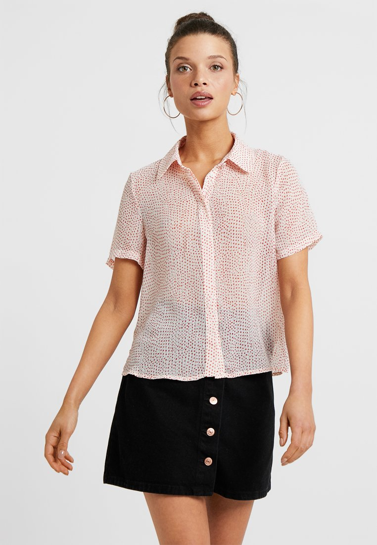 Vero Moda Petite - VMDOTTY - Button-down blouse - pristine/red