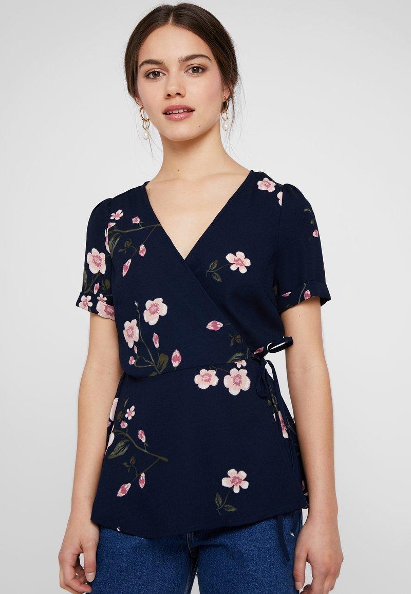 Vero Moda Petite - VMCALLIE WRAP - Blouse - navy blazer