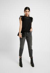 Vero Moda Petite - VMJADE ONECK - Blouse - black - 1