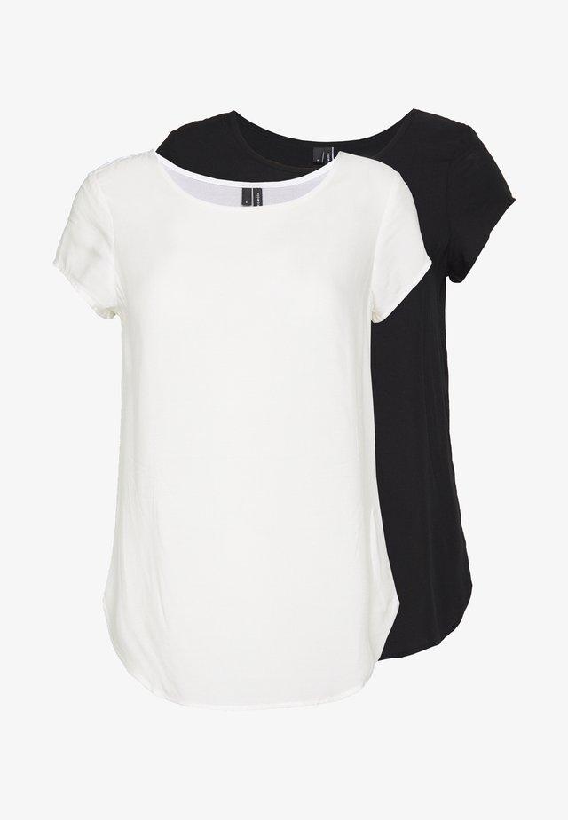 VMBOCA BLOUSE 2 PACK  - Bluse - black/snow white