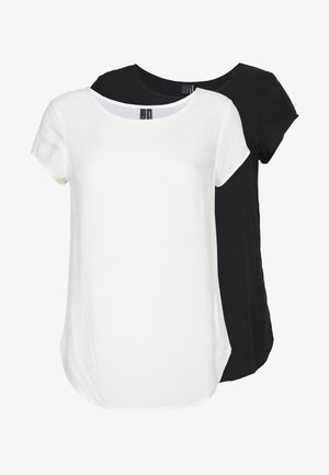 VMBOCA BLOUSE 2 PACK  - Blouse - black/snow white