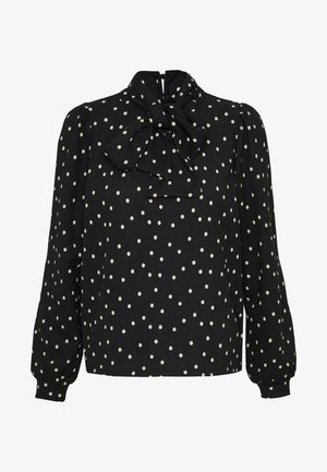 VMSIE TIE BOW - Blouse - black/birch