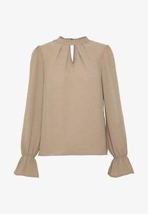 VMZIGGA L/S HIGH-NECK PLEAT TOP VIP - Bluser - silver mink
