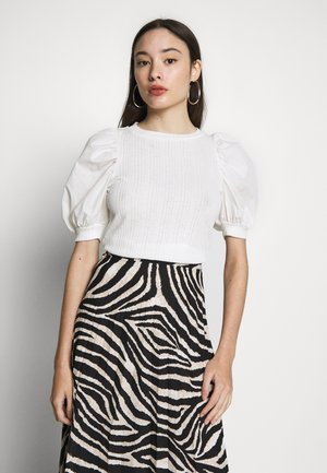 VMVIOLA PUFF SLEEVE MIXED - Blouse - snow white