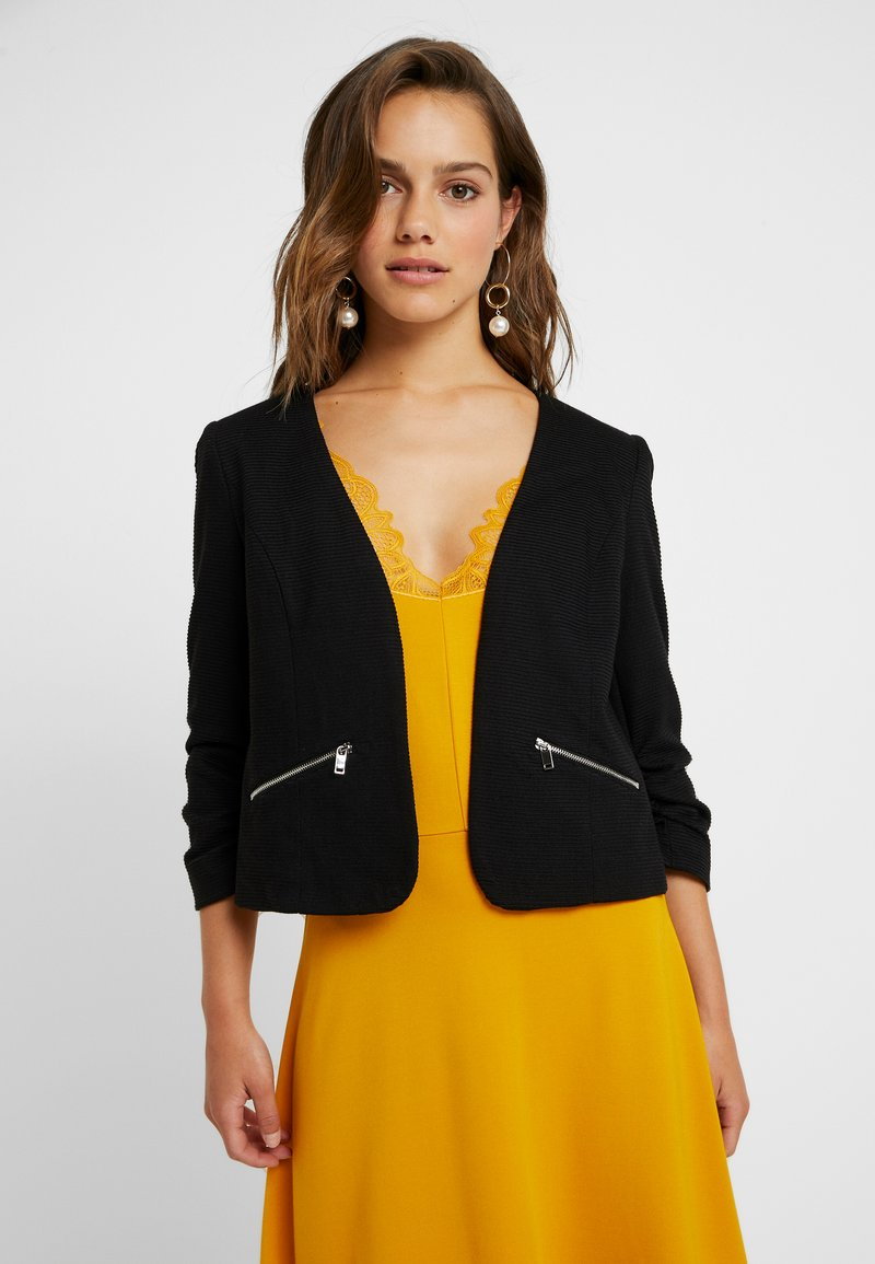 Vero Moda Petite - VMINEZ 3/4 ZIP - Blazer - black