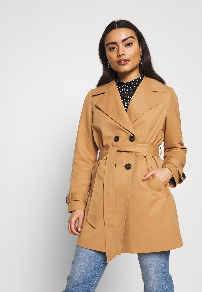 Vero Moda Petite - VMBERTA JACKET - Trenchcoat - tobacco brown