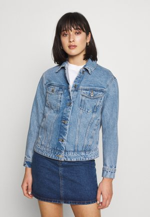 VMKATRINA LOOSE JACKET MIX - Denim jacket - light blue denim
