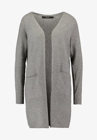 Vero Moda Petite - VMBRILLIANT LONG OPEN CARDIGAN - Kardigan - medium grey melange - 3