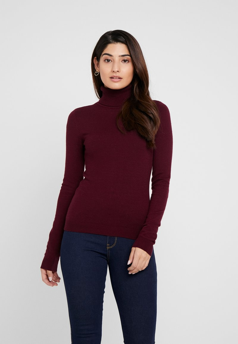 Vero Moda Petite - VMHAPPY BASIC LS ROLLNECK  - Strickpullover - port royale