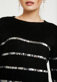 Vero Moda Petite - VMBRANASEQUINS O-NECK - Cardigan - black/silver - 5