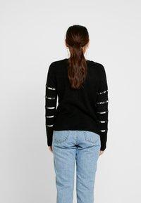 Vero Moda Petite - VMBRANASEQUINS O-NECK - Cardigan - black/silver - 2